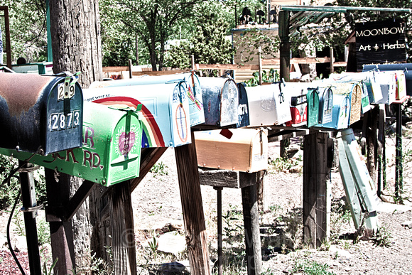 Madrid mailboxes grainy